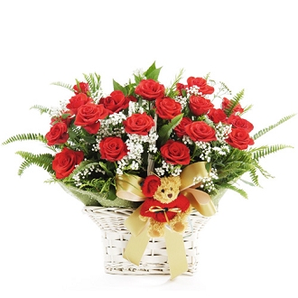 ID:5087 - 24 Red Roses Basket