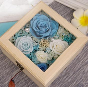 preserved fresh flower- blue