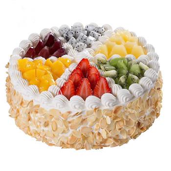 colorful fruits cake